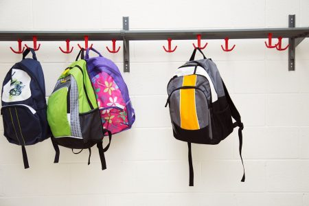 Backpacks Hanging
