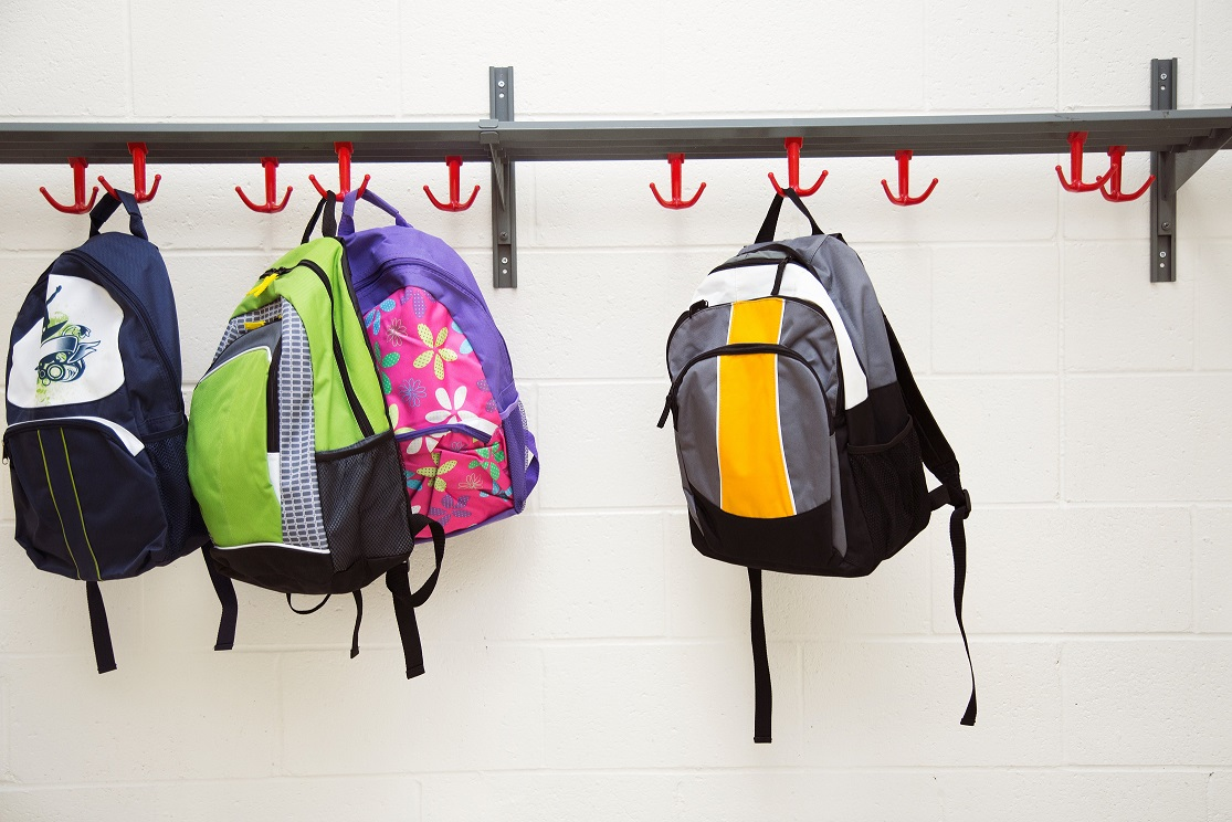 Backpacks Hanging